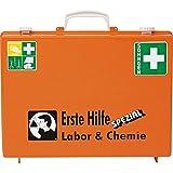 SÖHNGEN Erste-Hilfe-Koffer Labor/Chemie, Wandhalt, orange, ASR A4.3/DIN 13157, mit PRÜFPLAKETTE
