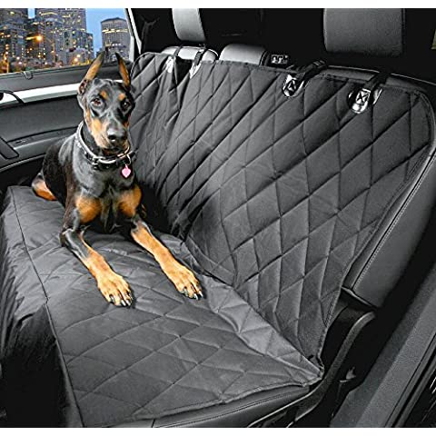 4knines trasera impermeable cubierta de asiento antideslizante para coches Camiones y SUV de