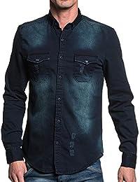 BLZ jeans - Chemise en jean bleu délavé homme