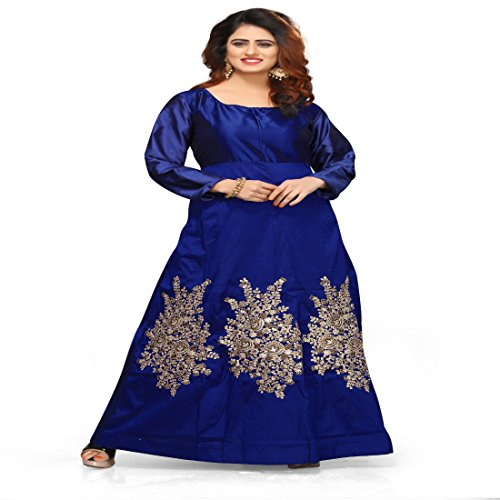Bollywood Craze Crepe Silk Lehenga Choli (BCZG036_Blue_Free Size)