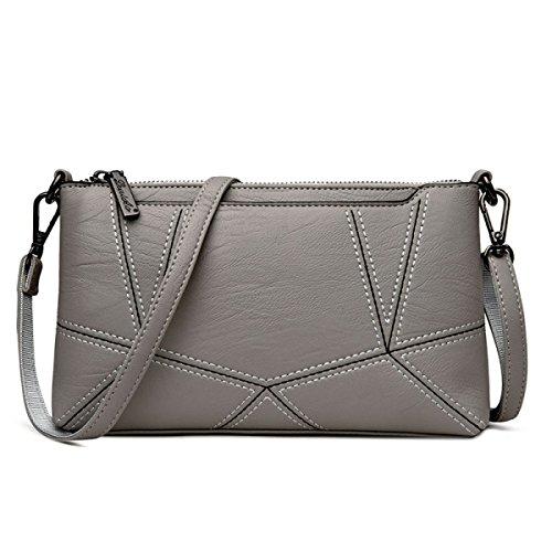 Dame Clutch Weibliche Stitching Korean Fashion Einfache Wild Messenger Bag Umhängetasche F