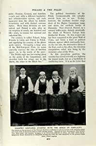c1920 POLOGNE COSTUME L'ENFANT de MÈRE de VARSOVIE de PAYSANS