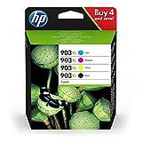HP 903XL Multipack (zwart, rood, geel, blauw) Originele cartridges met hoge capaciteit voor HP Officejet 6950; HP Officejet Pro 6960, 6970
