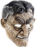 infactory Halloween Maske: Zombiemaske aus Latex-Gummi mit beweglichem Mund und Halteband (Maske für Fasnacht-Liebhaber)