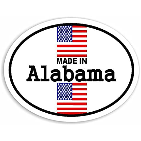 Made In Alabama - United States Of America Flag Auto Adesivi / Sticker For Car Bike Van Camper Decal Bumper USA Sign