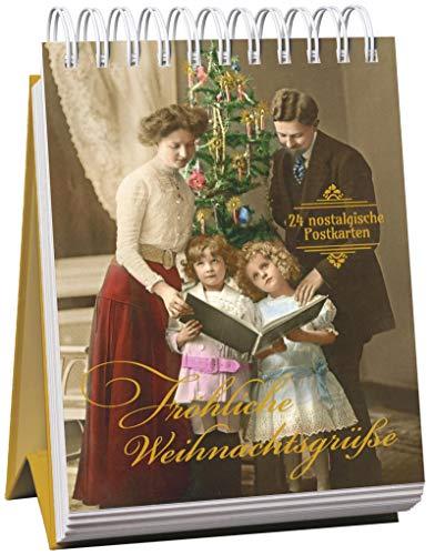 Fröhliche Weihnachtsgrüße: 24 nostalgische Postkarten