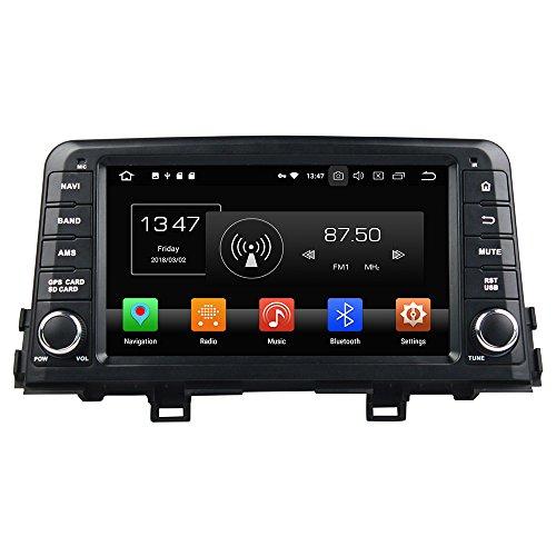 Android 9.0 Octa Core Autoradio Radio DVD GPS navegación Reproductor multimedia estéreo de coche para Kia Morning Picanto 2017 compatible con WiFi Bluetooth de control de volante libre 8 G tarjeta SD