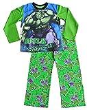 ThePyjamafactory ragazzi Marvel Hulk pigiama 3a 7anni W15 Green 3-4 Anni