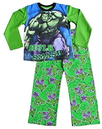 Image of ThePyjamafactory Boys Marvel The Incredible Hulk Pyjamas 3 to 7 Years w15 (5-6 Years)