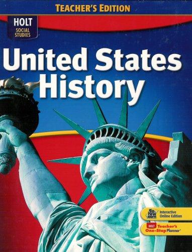 Social Studies United States History 2009 Teacher's Edition