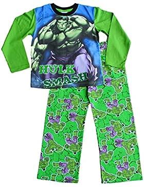 ThePyjamaFactory–Pijama para niño Marvel el increíble Hulk pijama 3A 7años)