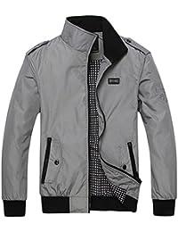 5cafe3964806 WS668 Printemps Automne Homme Stand Collar Mince Manteau Classique Mode en  Vrac Outdoor Veste de randonnée