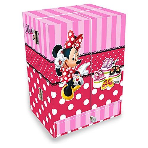 Minnie Mouse - Joyero musical con forma de armario (Kids Euroswan WD91055)