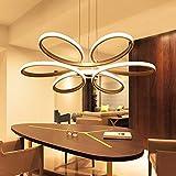 LED Rund Modern Pendelleuchte Minimalistischen Innenleuchte Creative Elegante Acryl Metall Weiß Höhenverstellbar Hängelampe Wohnzimmer Esszimmer 6 Flammig Kronleuchter Lüste Dimmbar Ø74 cm 80W