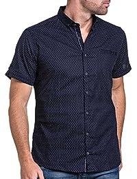 BLZ jeans - Chemisette homme bleu navy à motifs