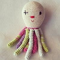 Octopus amigurumi per neonati vestiti come clown. Polpo di crochet - uncinetto per bambino.