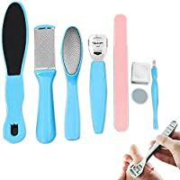 ROKOO 8Pcs/Set Professional Pedicure Kit Tools Exfoliating Prevent Dead Skin Manicure Foot Skin Care Tool Set