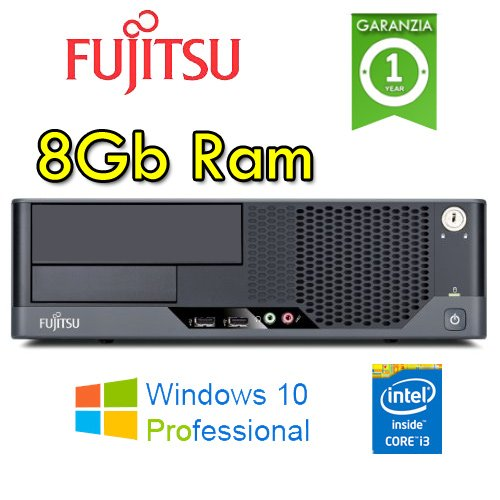 Fujitsu - PC Esprimo E9900 Core i3-540 3.06GHz 8Gb Ram 250Gb no ODD Windows 10 Professional (Ricondizionato Certificato)