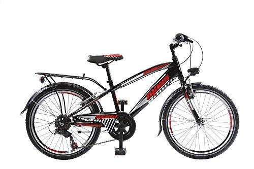 "20 20\"" Zoll City Fahrrad Bike Rad KINDERFAHRRAD CITYFAHRRAD 6 Gang MAXX SCHWARZROT"