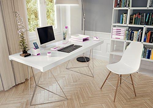 Leitz, Sound Stifteköcher, Soundverstärkungsfunktion, Weiß/Metallic Pink, WOW, 53631023 - 4