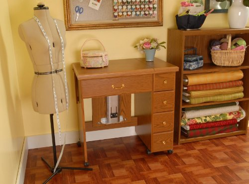 Mueble para m quina de coser tia oakley de arrow cabinets for Muebles de costura