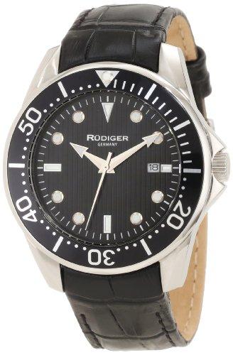 Rudiger Men's Watch XL Analogue Chemnitz Leather R2000Charm 007L