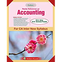 Padhuka's Ready Referencer on Accounting: for CA Inter/IPCC New Syllabus