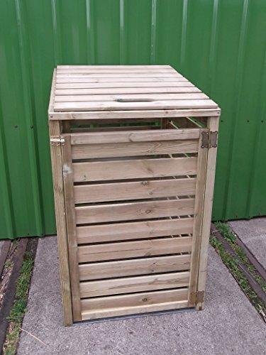 *Mülltonnenbox Tonne Müllcontainer Müllbox Mülltonnenverkleidung 77 x 126 cm /*