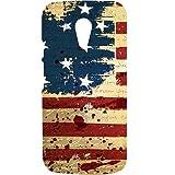 Casotec USA Flag Design Hard Back Case Cover for Motorola Moto G 2nd Generation