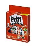 Pritt Bâton De Colle Uni Lavable Non toxique Grand 43 g Réf 1456072 - Pack de 5