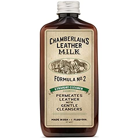 Chamberlain Pelle di latte, Aspirapolvere FORMULA n. 2| tutti i detergente per mobili, interni auto, naturale e abbigliamento. 2misure. Free Pulizia Pad.