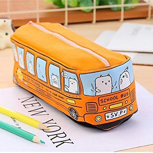 MAMA PAPA Estuche lápiz forma autobús bolso 19 x
