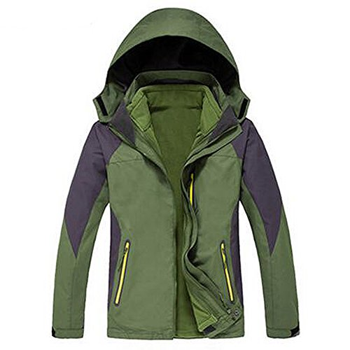 ELEAR® Uomini / Donne in pile sportivo outdoor impermeabile Windbreaker Jacket Athletic antivento Warm Arrampicata cappotto escursionismo Giacca esterna maschi verde
