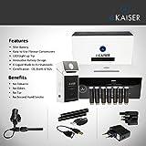 eKaiser DUAL KIT | Electronic Cigarette Starter kit | 2 X USB Rechargeable Batteries | 7 X Premium Clearomizer E Liquids | Box Holder | Wall Plugs | E Shisha