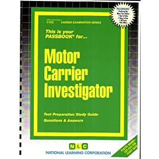 Motor Carrier Investigator (Career Examination Passbooks, Band 523)