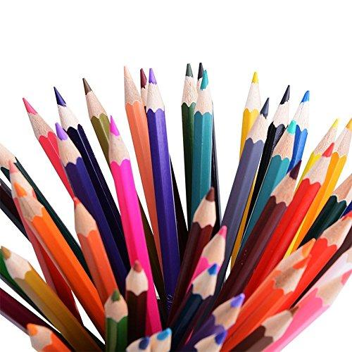Hosaire Farbige Bleistifte Art Buntstifte Set der 48 Farben sortiert für Secret Garden Färben Buch
