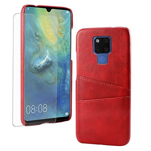 FugouSell Cover per Huawei Mate 20 X (5G) Custodia Ultra Sottile e Leggere, Slim Smart Case con Antiurto Antipolvere Funzione Compatibile con Huawei Mate 20 X (5G) (Rosso)