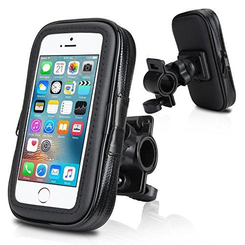 """Fahrradhalterung, Wotek Fahrradhalterung universal mit Wasserdichter Tasche Fahrrad und Motorrad Halterung Halter für iPhone SE 5S 5 (4.0""""-4.3"""")"""