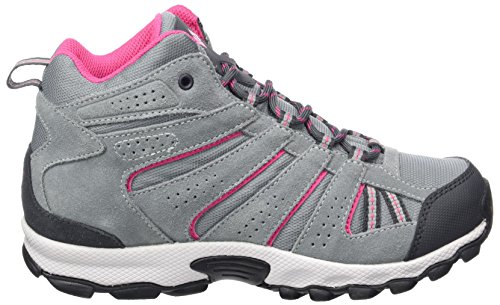 Columbia Youth North Plains Mid Waterproof, Chaussures Bébé Marche Fille Gris (Grey Ash/ Ultra Pink)