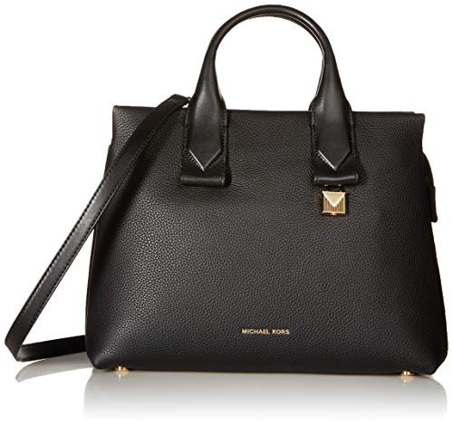Michael Kors sac besace en cuir de galets rollins grand noir Black Leather