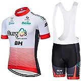 ZHLCYCL Traje Ciclismo Hombre, Maillot Ciclismo y Culotte Ciclismo con 5D Gel Pad para Verano Deportes al Aire Libre Ciclo Bi