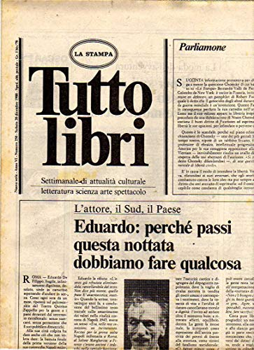 Tuttolibri n. 250 del Dicembre 1980 Eduardo, Callas, Strenne, Marco Polo