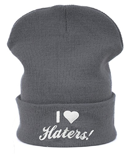 Unisex Uomini donne Berretto Beanie Beanies cappello invernale Cap I Love Hater