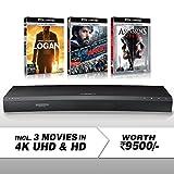 #5: Samsung (UBD-K8500) 3D Wi-Fi Multi-Region 4K Ultra HD Blu-ray Player + 4K UHD 3 Movies Bundle Pack (Logan + Argo + Assassin's Creed)