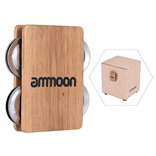 Ammoon Cajon Box Drum Zubehör ergänzende 4-campanillas Jingle Castanet für Schlaginstrumente manuell
