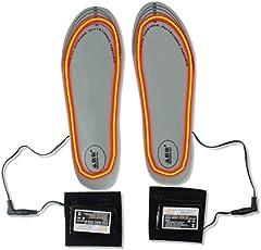 Dedeka Beheizbare Einlegesohlen, USB Wiederaufladbare Heizung Warme Einlegesohlen, Tailable 8H Hohe Hitze-Warme Fußwärmer Outdoor Beheizte Schuheinlagen für Alle Schuhgrößen(36-46, maßgeschneidert)