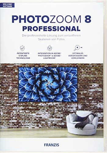 FRANZIS PhotoZoom 8 professional|Bildbearbeitung|Fotografie für Laien und Profis|Verlustfrei vergrößern bis zu 800 {9ec9d4e9df05b0953be4de7750add4067530b4d3cfef91b2c931eb7fa31c4f7a}|für Windows & Mac|Disc|Disc