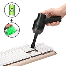 Rechargeable Keyboard Cleaner, MECO Mini Cordless Desk Vacuum Cleaner, Best Cleaner for Cleaning Dust,Hairs,Crumbs,Scraps for Laptop,Piano,Computer,Car and Pet House