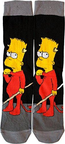 2 Paar Herren Socken The Simpsons Größe 39-42 (Unterwäsche Homer Simpson)