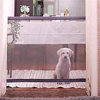 Barrière de sécurité pour animaux de compagnie, barrière escamotable Womdee pour animaux de compagnie, barrière se pliante, porte autoportante, barrière, système de clôture, système de clôture intérie